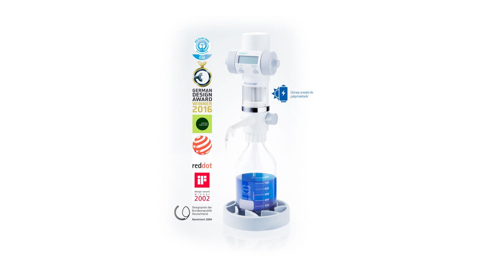 SOLARUS® Dijital Büret    Merlab Laboratuvar Ekipmanları